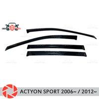 Окно дефлектор для Ssang Yong Actyon Спорт 2006 ~/2012 ~ дождь дефлектор грязи Защитная оклейка автомобилей украшения интимные аксессуары