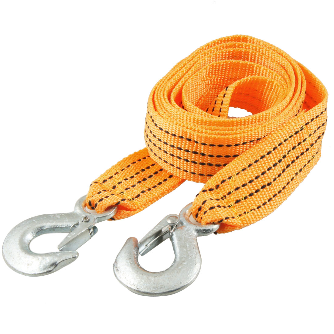 UXCELL Auto Car 3 Ton Capacity Hook Clasp Orange Black Nylon Tow Rope 2.5M