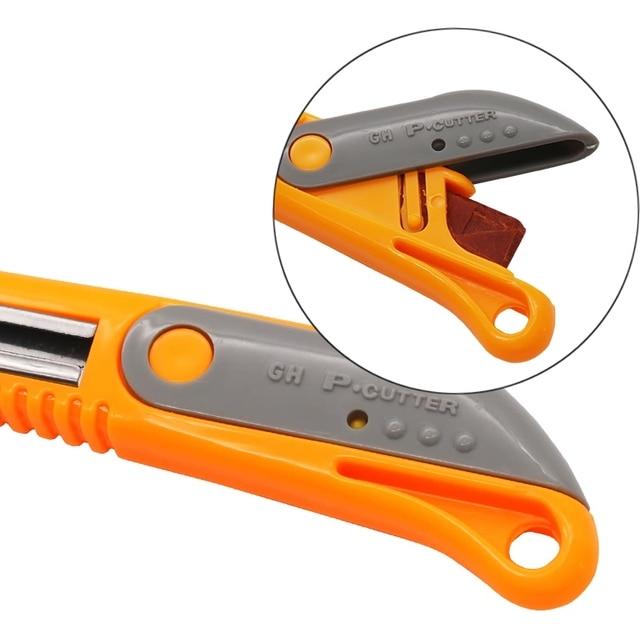 Cuchillo de gancho QSTEXPRESS, herramienta de corte de acrílico para CD, cuchillo cortador de plexiglás, cortador de ABS, herramienta de tablero orgánico