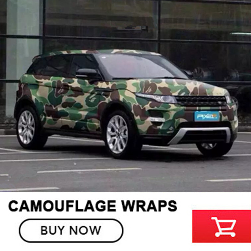 6 colors 5/10/15/20/25/30m Matt Camo Vinyl Wrap Roll for Jeep SUV Camouflage Vinyl Film Full Body Car body film