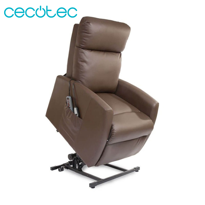 Cecotec Relax Armchair Massage Lifter Compact 5 Modes Function Heat Rest Automatically Black Beige Brown And Camel