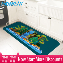 FOKUSENT New Design Large Size Floor Mat Printing Cartoon Scenery Door Rugs Carpets Soft Flannel Doormat