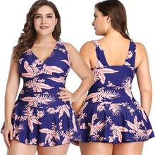 Women's Two Piece Printed Split Skirt Tankini Swimsuits with Shorts Slimming & Control Swimwear Sets Bathing Suit Plus Size Sale