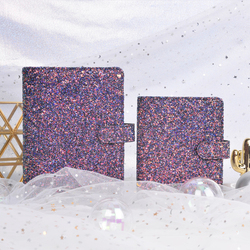 2019 Yiwi Dokibook Lovedoki A7 A6 Purple Sequin Korean Freshman Account Notebook Diary Student loose-leaf Planner Charm