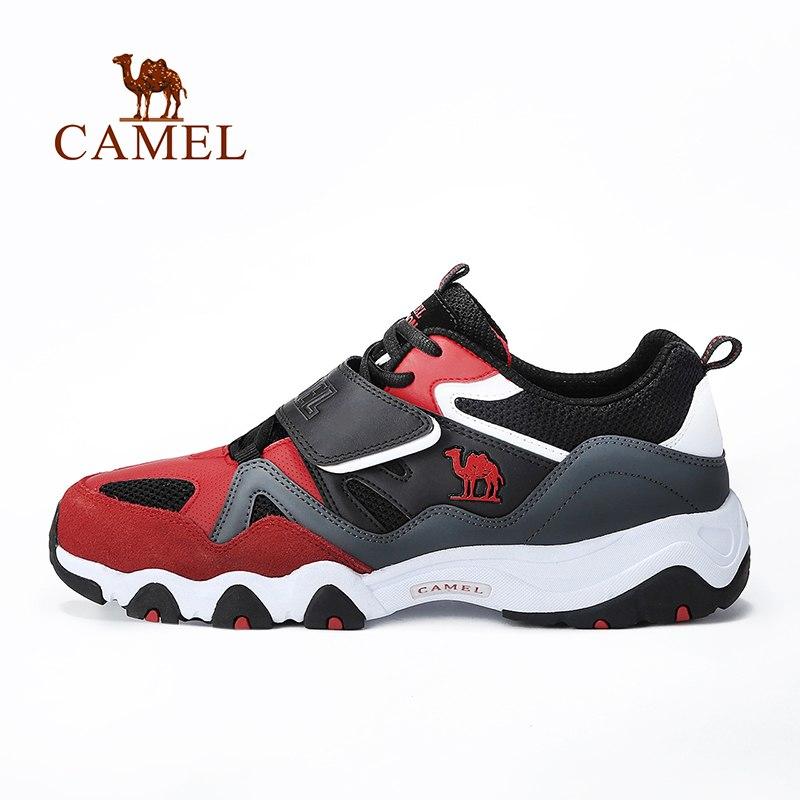 CAMEL Sports Walking Shoes Men Running Casual Outdoor Platform Breathable Shock Absorbant Sneakers Hook-loop