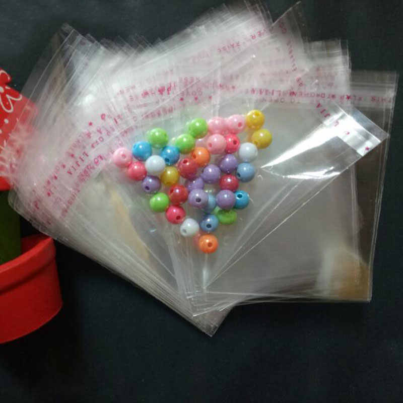 1000pcs 7cmx12cm OPP Transparent Jewelry Packaging Bag Self Adhesive Seal Plastic Bags Clear Cellophane Bag Gift package Bags