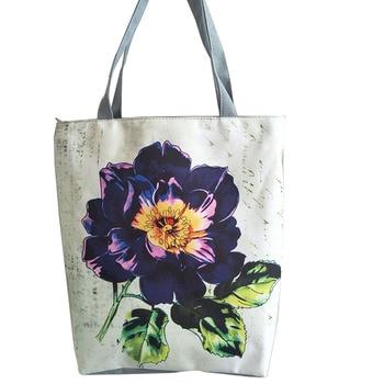 Colorful Floral and Animal Printed Tote Handbag Women Daily Use Female Shopping Bag Large Capacity Canvas Shoulder Beach Bag tote bag