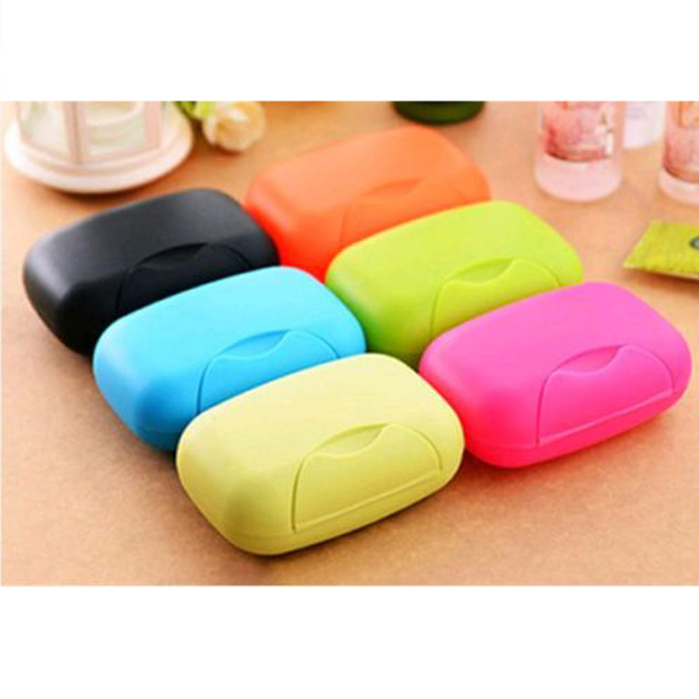 Hot Selling new arrival Fashion 4 Colors Travel Portable Soap Dish Case Holder Container Box Outdoor Hiking Camping Gifts