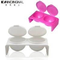 10pcs Nail Art Double Lips Dappen Dish Case Mixing Acrylic Liquid Powder UV Gel Tips Tool