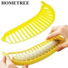 HOMETREE 1 pcs Banana Slicer Chopper Cutter Plastic Banana Salad Make Tool Fruit Salad Sausage Cereal Cutter Plastic Banana H188