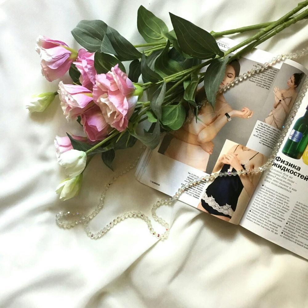 Искусственные цветы эустома с Алиэкспресс