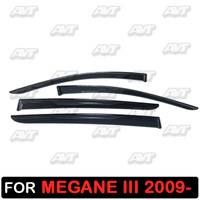 Window deflectors for Renault Megane 3 2009- 1 set-4 pcs car styling wind decoration guard vent visor rain guards cover