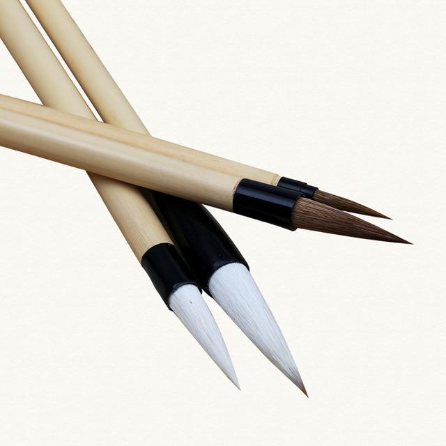 4 piezas de pinceles de pintura de escritura china conjunto de lápiz de caligrafía para pincel de dibujo para acuarela pincel de arte suministros