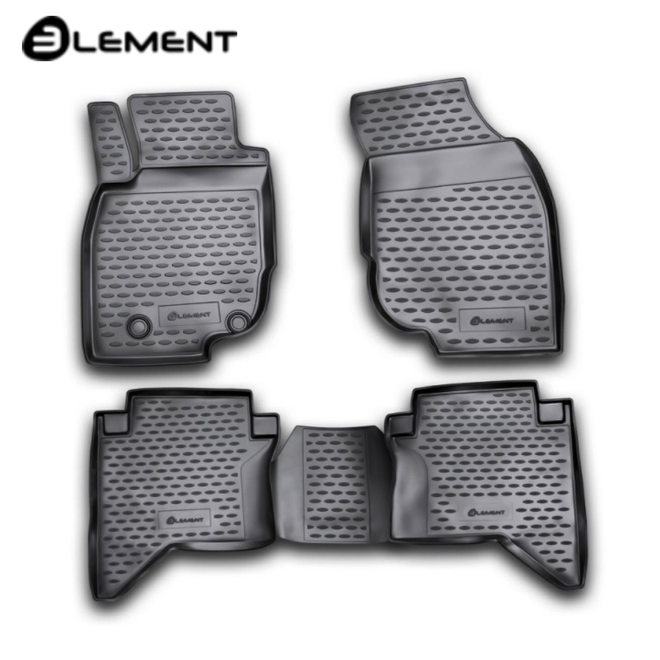 Per Toyota Hilux 2011-2015 tappetini in saloon 4 pz/set Elemento NLC4852210K