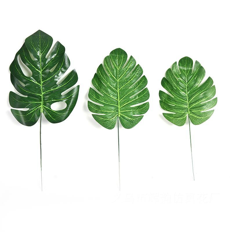 Image 4 - 10pcs Artificial Plants Monstera Palm Tropical Plant Green Leaves Home DIY Decoration Wedding Party Office Store Decorations-in Artificial & Dried Flowers from Home & Garden