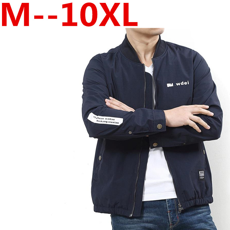 Big size 10XL 9XL 8XL 6XL 5XL 4XL brand autumn casual Bomber jackets coat men solid Mens coats clothing plus size Men clothes женский закрытый купальник yqe 4xl 5xl 6xl 7xl 8xl 9xl 10xl 11xl 12xl 2376