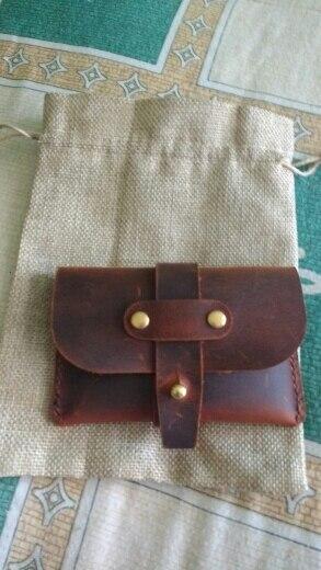 Handmade Genuine Leather Men Business Credit Card Holder Wallet Designer Porte Carte Case for Cards Protector Cardholder Holder photo review