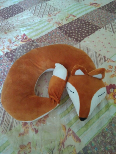 Lovely Fox Animal Cotton Plush U Shape Neck Pillow for Traveling and Napping photo review