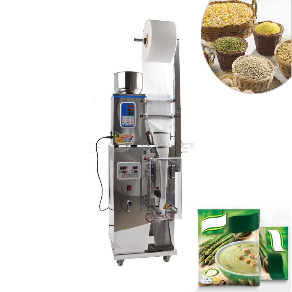 CapsulCN, 2 100g Full Automatic Foil Pouch Weight And Filling Packaging Machine,Herb/Powder/Food Packing Machine