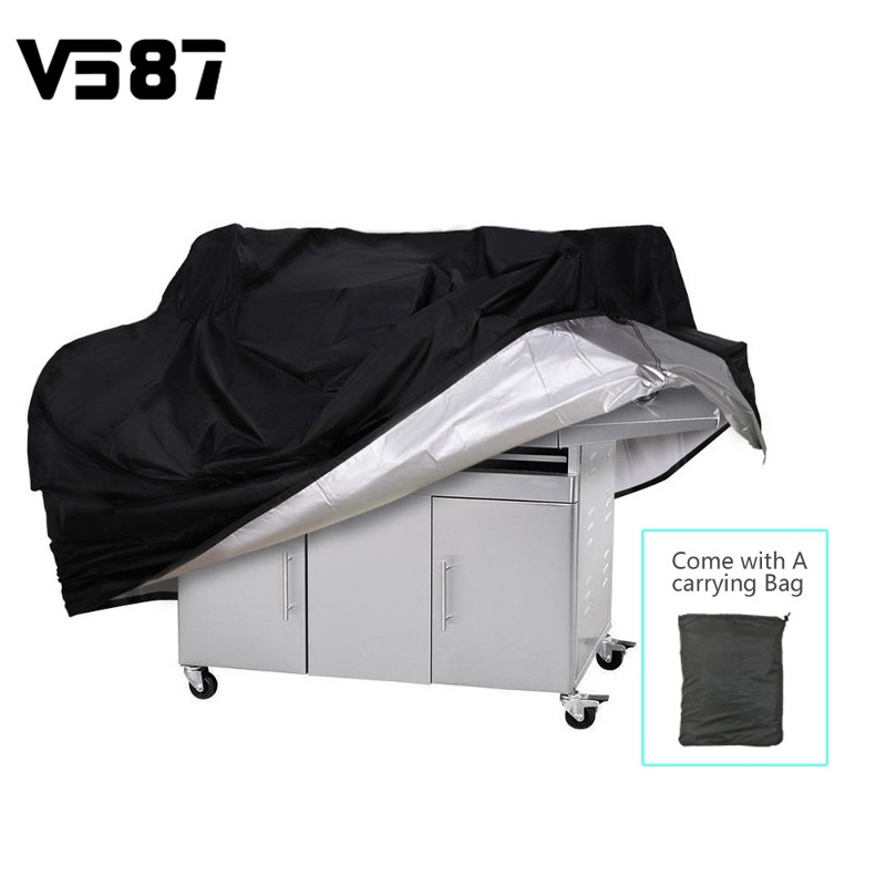 BBQ Grill Cover Outdoor Grill Rain UV Proof Canopy Dust Protector For Gas Charcoal Electric Barbecue Stove Barbeque Accessories