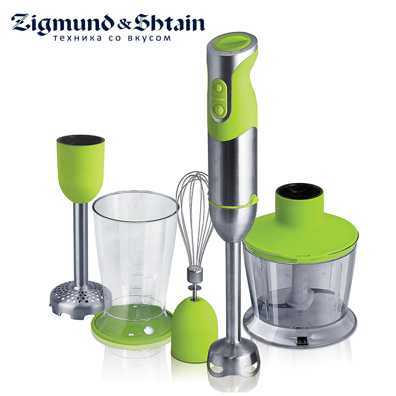 Zigmund & Shtain BH-228M Blender Hand kitchen 800W 600ml Mixer Food processor Household use 5 modes Low noise level
