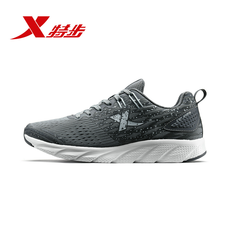 982318119028 Xtep 2018 New Women's Running Shoes Autumn authentic sports shoes women's leather surface breathable white student