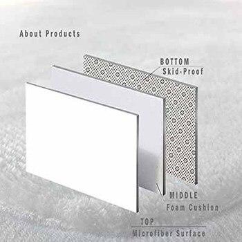 Autre Gris Blanc Noir Cubes Abstrait Géométrique Impression 3d Antidérapant Microfibre Salon Décoratif Moderne Lavable Zone Tapis