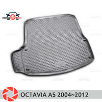 Trunk mat for Skoda Octavia A5 2004~2012 trunk floor rugs non slip polyurethane dirt protection interior trunk car styling