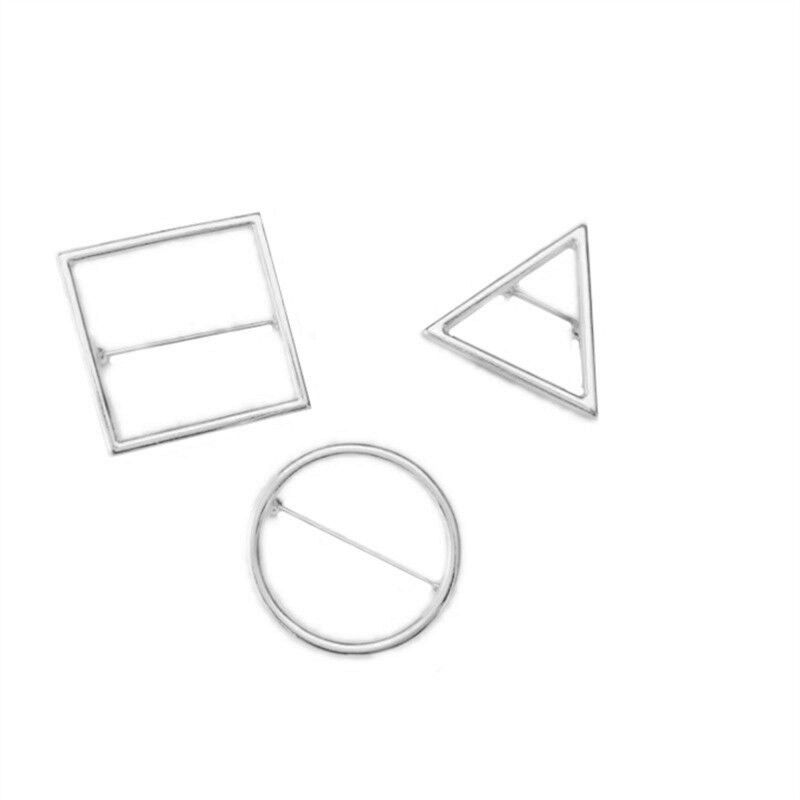 Simple brooch joker popular brand temperament geometrical circle triangle square brooch brooches in Brooches from Jewelry Accessories