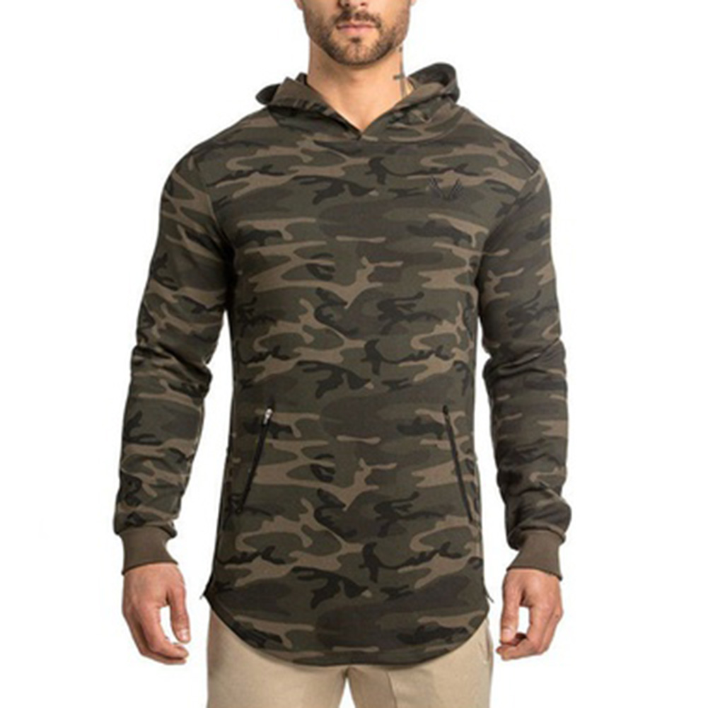 2018 NEW Black Camouflage Hoodies Winter Mens Camo Fleece Pullover Hooded with Pocket Sweatshirts Hip Hop Swag Streetwear