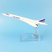 Франция AIRLINERS 16 см AIR FRANCE CONCORDE модель самолета игрушечные лошадки для детский самолет подарки орнамент коллекция