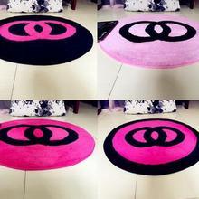 60x60cm/70x70cm/80x80cm creative warm pink/black bedroom carpet living room floor rug pink chair mat anti slip home decoration