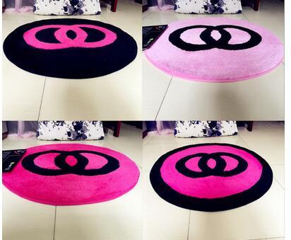 60x60 cm/70x70 cm/80x80 cm créatif chaud rose/noir chambre tapis salon sol tapis rose chaise tapis antidérapant décoration de la maison