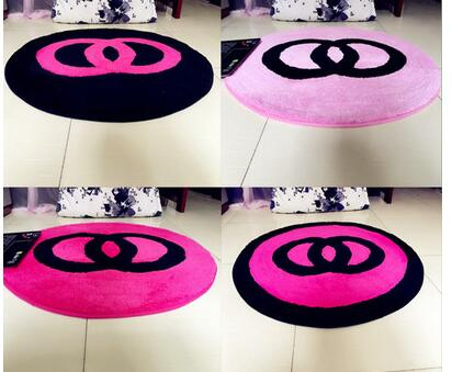 60x60cm/70x70cm/80x80cm creative warm sweet bedroom carpet living room floor rug pink chair mat anti slip home decoration