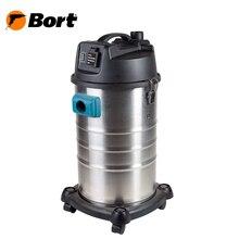 Пылесос для сухой и влажной уборки Bort BSS-1230 (Мощность 1200 Вт, вместимость пылесборника 30 л, длина шланга 1,5 м, функция выдува и сбора жидкости, автоотключение, подключение электроинструмента, тканевый фильтр,