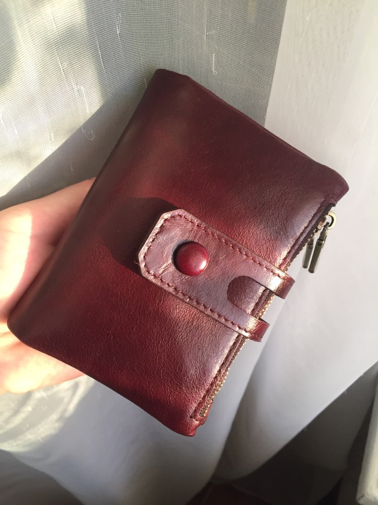 2019 Fashion Wallet Women Genuine Leather Wallets Female Hasp Double Zipper Design Coin Purse ID Card Holder Unisex Slim Wallet photo review