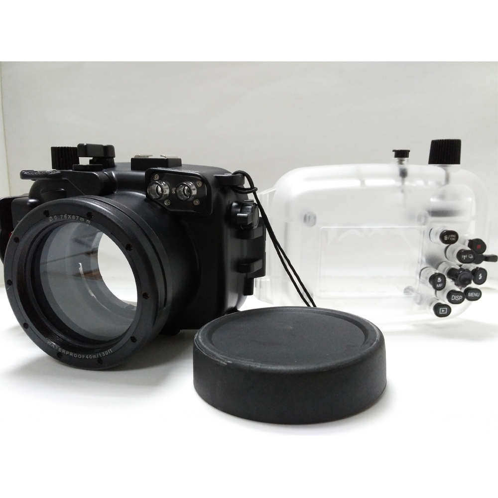 Meikon 40M/130ft Waterproof Camera Housing Case for Canon G7X (8.8-36.8mm) Camera,Camera Underwater Bags Case for Canon G7X meikon 40m 130ft waterproof housing case for canon g11 g12 as wp dc34 camera underwater diving bags case for canon g11 g12