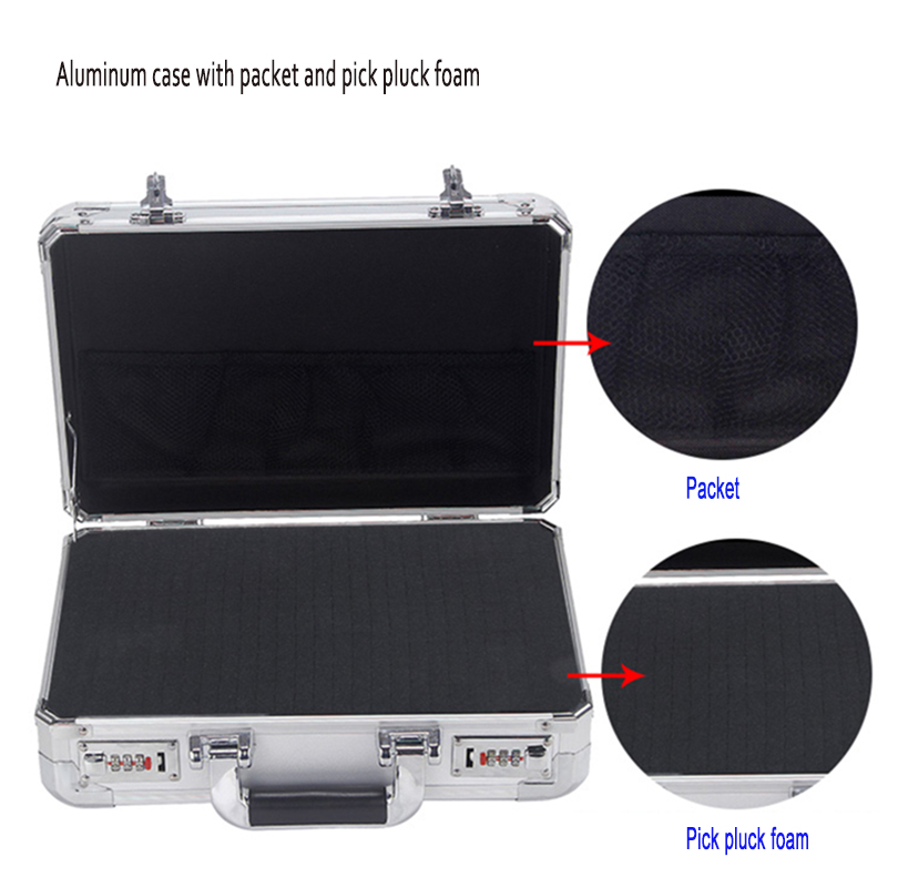 External 36*25*13 Cm High Impact Resistant  Aluminum Material Suitcase For Metal Tools