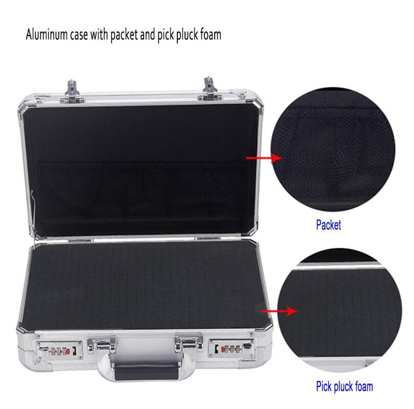external 36*25*13 cm high Impact resistant  Aluminum material suitcase for metal tools