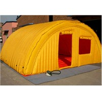 Large yellow cube inflatable tent camping shelter with doors and window holiday inflatable tent