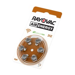 60 PCS Rayovac Air Energy Hearing Aid Batteries A312 312A ZA312 312 PR41 Free Shipping! Zinc Air Hearing Aid Battery Brand
