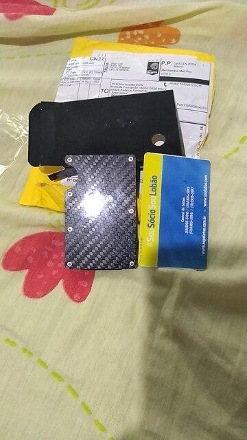 2019 new design minimalist wallet rfid blocking for men carbon fiber wallet credit card holder photo review