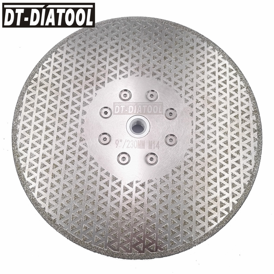 """DT DIATOOL 2pcs 9""""/230mm Electroplated Diamond Cutting Saw Blade Grinding Disc Double Sides M14 Flange for Cutting Marble Tile-in Saw Blades from Tools    2"""