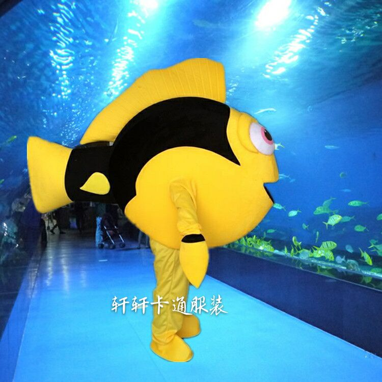 Free Shipping Adult Size Funny Fish Mascot Hot Sold Dress Up Animal Clothing Nemo and Dory Mascot Clothing Cosplay in Holidays Costumes from Novelty Special Use