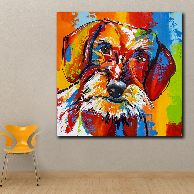 Tier Pop Kunst Franzosisch Bulldog Ol Malerei Wand Kunst Paiting