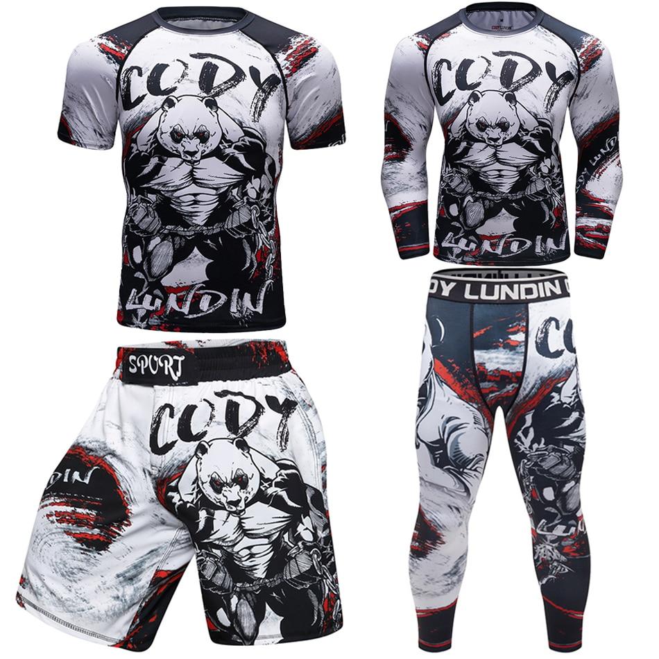 Men Mma T-shirts+pants Mma Boxing Muay Thai Shorts Rashguard Kickboxing Sets Boxeo Fitness Sportsuits Jiu Jitsu Bjj Gi T-shirts