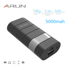 ARUN 5000mah Power Bank External Battery PoverBank 1 USB Powerbank Portable Mobile phone Charger for Xiaomi MI iphone XS huawei
