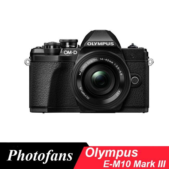 Olympus  OM-D E-M10 Mark III Mirrorless M43 Digital Camera with 14-42mm EZ Lens (Black)