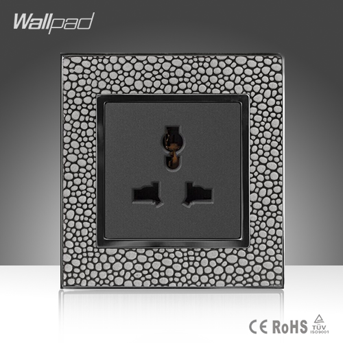 Latest Technology Wallpad Hotel Pearl Leather Frame 86*86mm 3 Pin 10A 13A Universal Wall Socket Outlet, Free Shipping new a8 3 three frame a8 function of supporting frame 86 outlet switch combination surface box