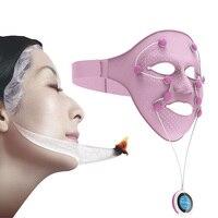 Электрический Вибрационный массажер для лица ультразвуковой спа уход для похудения маска для лица дома Применение против морщин магнит SPA
